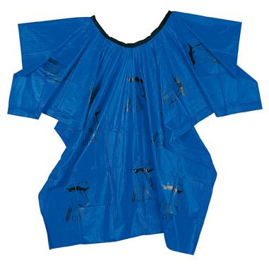 Kadeřnická pláštěnka nářadí modrá