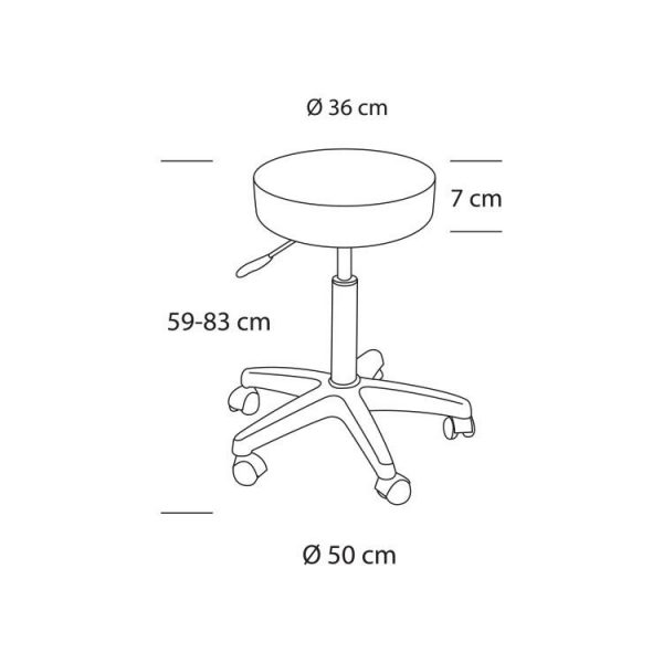 Kadeřnická židle Sinelco Eco č.2